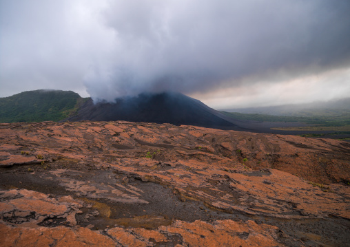 Crusts and ashes around mount Yasur volcano, Tanna island, Mount Yasur, Vanuatu