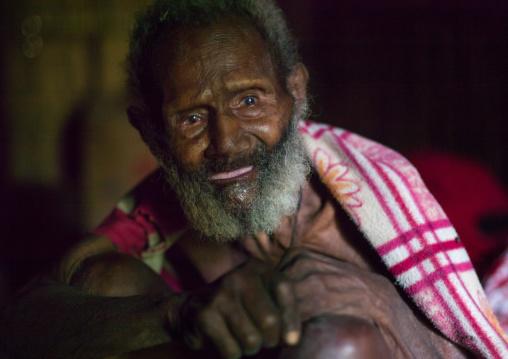 Ni-Vanuatu old man with white beard, Tanna island, Yakel, Vanuatu