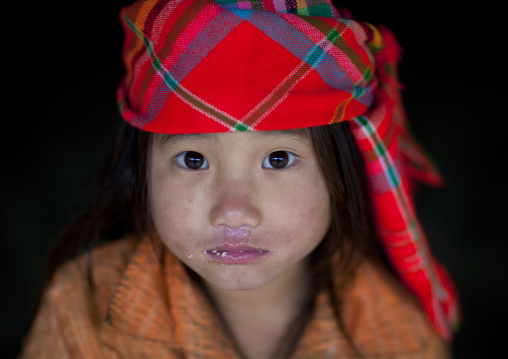 Flower hmong girl with a headscarf, Sapa, Vietnam