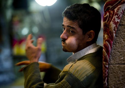 Man Chewing Qat, Sanaa, Yemen