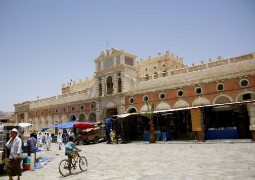 View Of Seiyun Market, Yemen