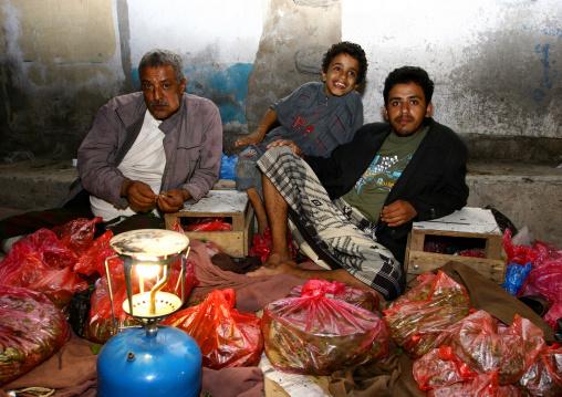 Qat Sellers At Al Hodeidah Market, Yemen