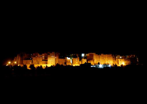 Panorama Of Shibam At Night, Yemen