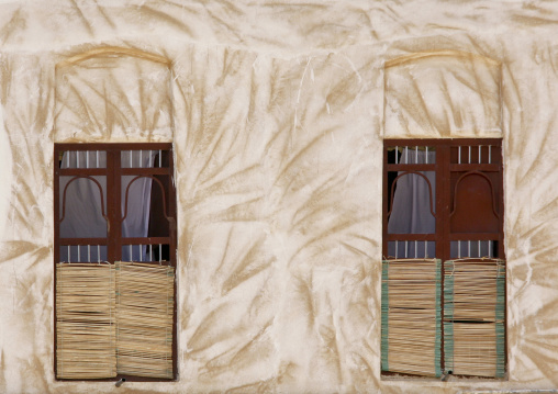 Straw Curtains And Scratched-like Wall, Hadramaut, Yemen