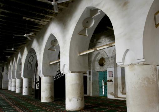Sculpted Arcades In A Mosque, Zabid, Yemen