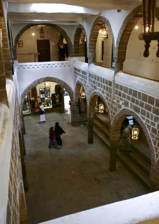 Over View Of A Caravanserai, Sanaa, Yemen