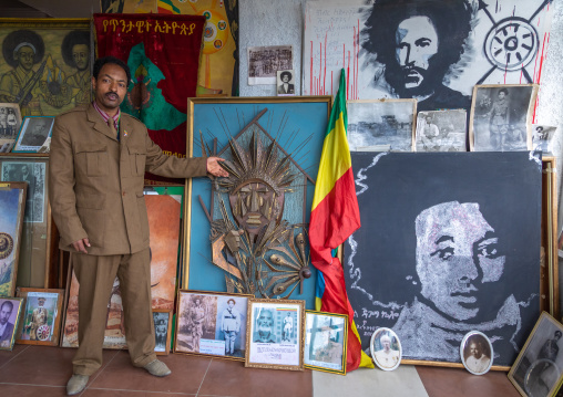 Secretary of the patriots in the war museum, Addis Abeba region, Addis Ababa, Ethiopia