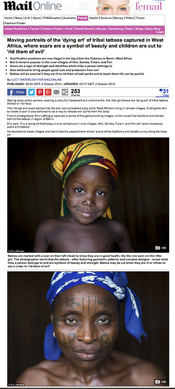 Daily Mail - Scars in Benin