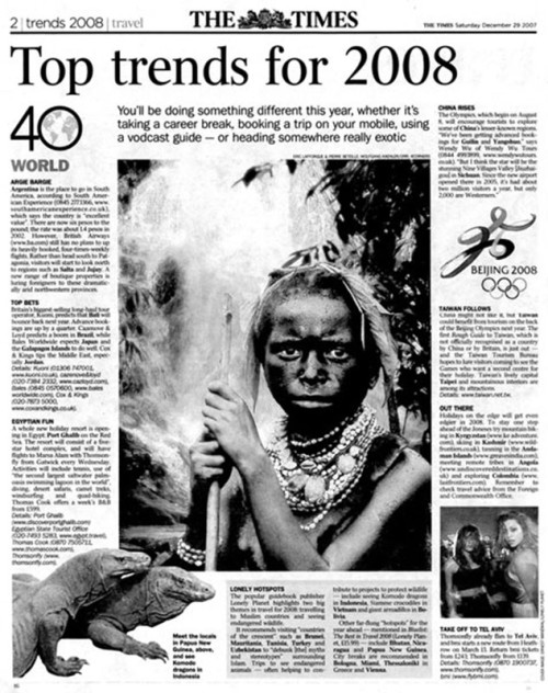 The Times 2008 trips