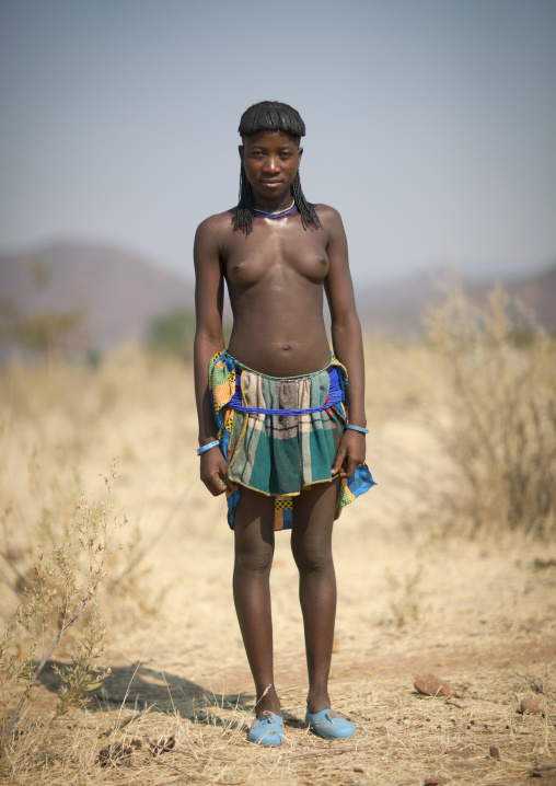 Mucawana Girl Called Capahepe, Village Of Soba, Angola