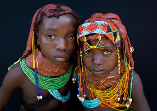 Mumuhuila tribe children portrait, Huila Province, Chibia, Angola