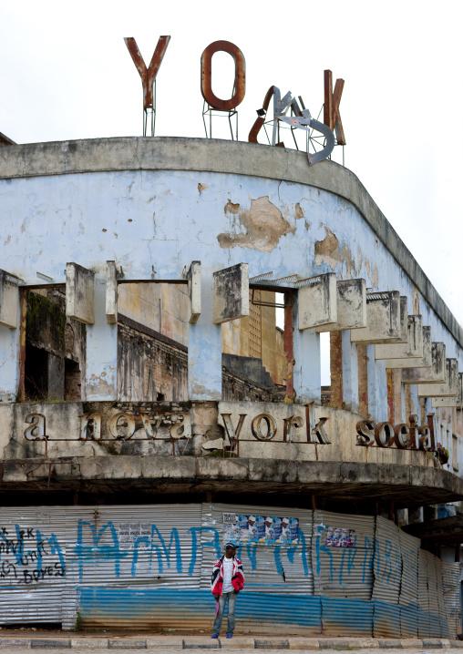 Old Cinema Theater In Ruins, Huambo, Angola