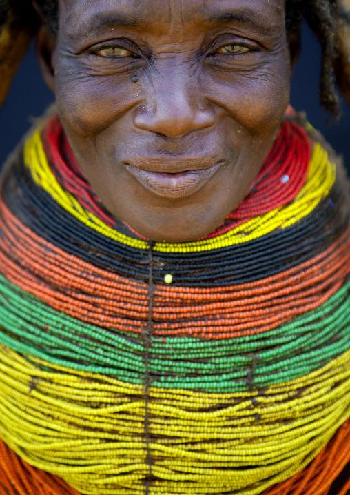 Mwila Woman With A Vilanda Necklace, Chibia Area, Angola