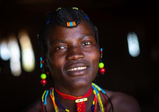 Smiling mudimba tribe woman, Cunene Province, Cahama, Angola