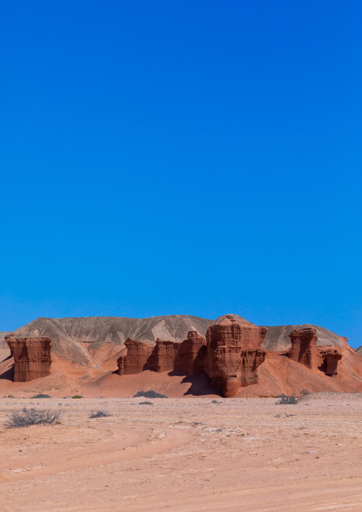 Rock formations in an arid area, Cunene Province, Curoca, Angola