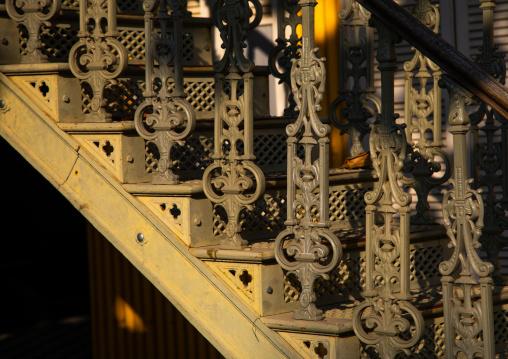 Palacio de ferro stairs built by Gustave Eiffel, Luanda Province, Luanda, Angola