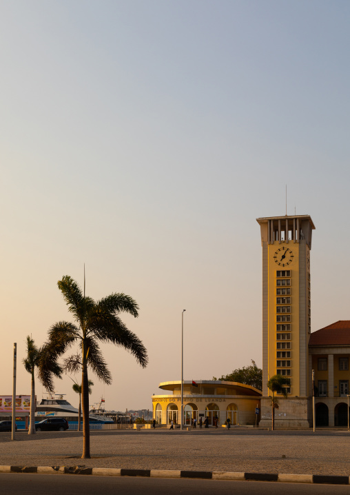 Harbor tower in the Marginal, Luanda Province, Luanda, Angola