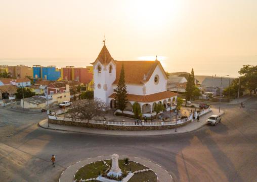 Igreja de nossa Senhora da arrabida aerial view, Benguela Province, Lobito, Angola