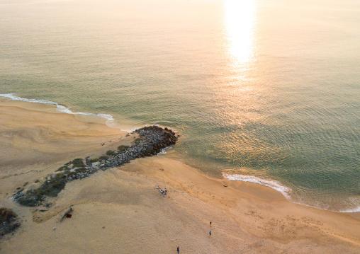 Aerial view of the beach, Benguela Province, Lobito, Angola