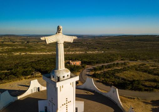 Aerial view of the Cristo Rei, Huila Province, Lubango, Angola