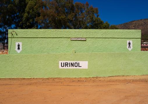 Urinal in senhora do Monte park, Huila Province, Lubango, Angola