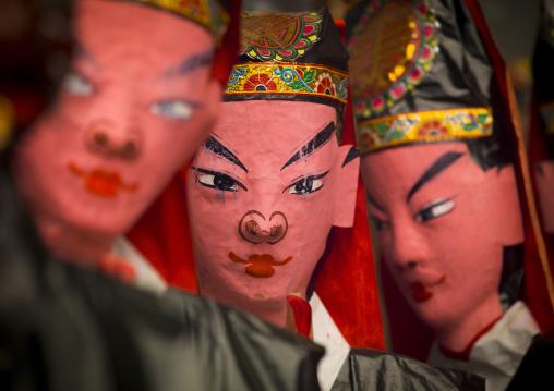 Puppets In Kwan Kung Pavilion On Chueng Chau, Hong Kong, China