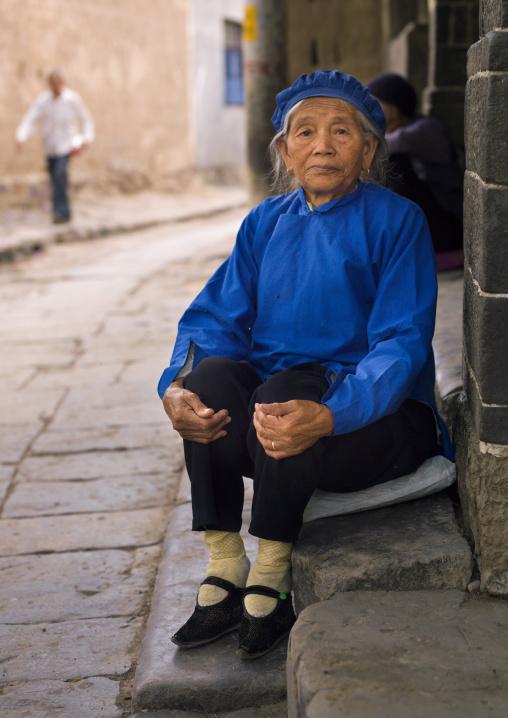 Grandmother Ma You Fen Little Feet, Tuan Shan Village, Yunnan Province, China