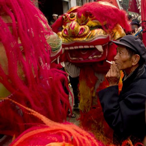 Dragon During A Funeral Procession, Yuanyang, Yunnan Province, China