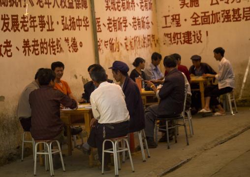 People Playing Chinese Chess, Xizhou, Yunnan Province, China