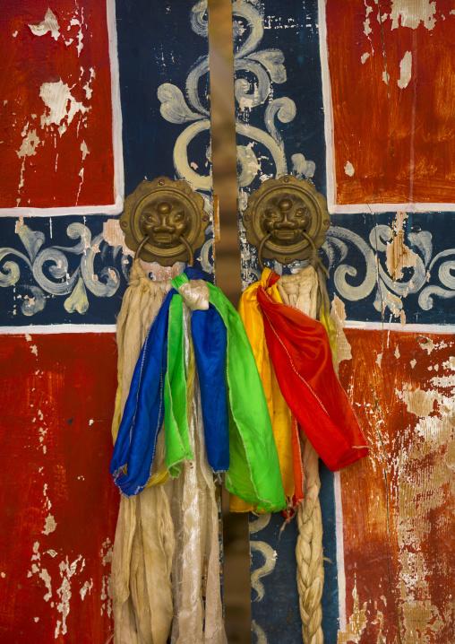 Ringha Temple Door, Zhongdian, Yunnan Province, China