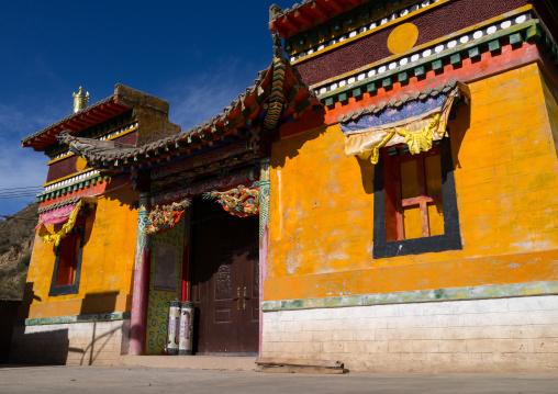 Yellow temple in Rongwo monastery, Tongren County, Longwu, China