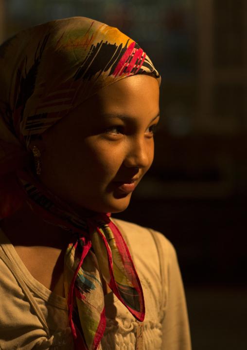 Young Uyghur Girl, Hotan, Xinjiang Uyghur Autonomous Region, China
