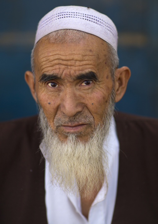 Old Uyghur Man, Keriya, Xinjiang Uyghur Autonomous Region, China