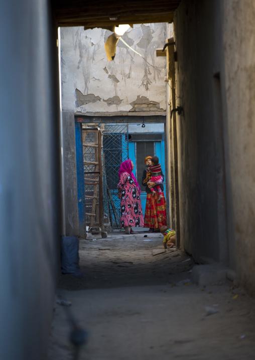 Uyghur Women And Kids, Yarkand, Xinjiang Uyghur Autonomous Region, China