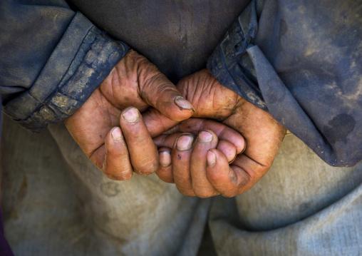 Worker Hands, Opal Village Market, Xinjiang Uyghur Autonomous Region, China