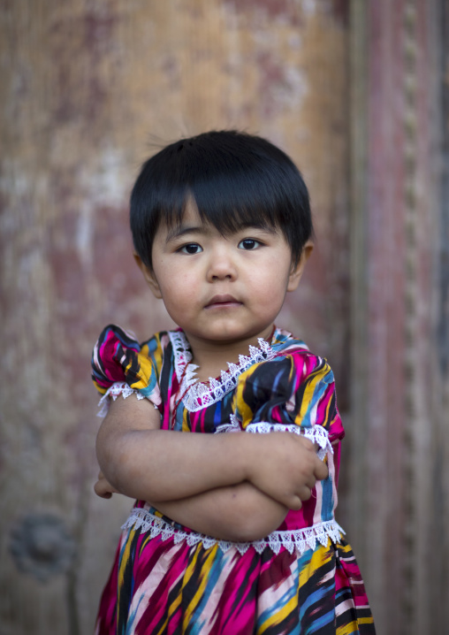 Young Uyghur Girl, Kashgar, Xinjiang Uyghur Autonomous Region, China