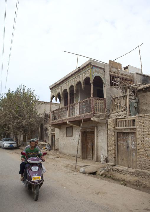 Traditional Uyghur House In Old Town, Keriya, Xinjiang Uyghur Autonomous Region, China