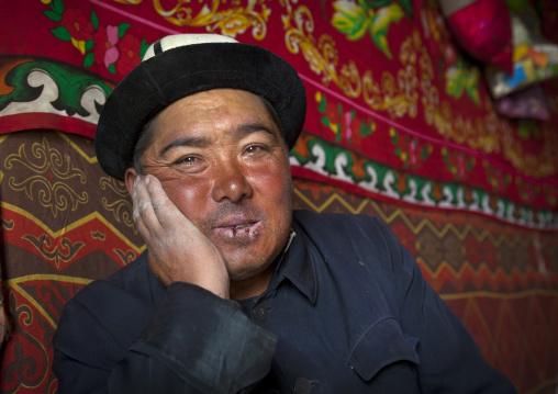 Kyrgyz Man Near Karakul Lake, Xinjiang Uyghur Autonomous Region, China