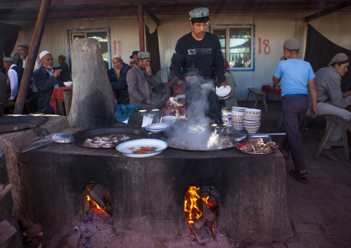 Street Restaurant, Kashgar Animal Market, Xinjiang Uyghur Autonomous Region, China