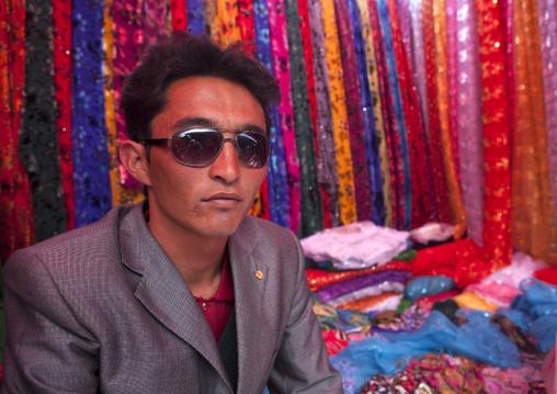 Fashionable Cloth Seller, Opal Village Market, Xinjiang Uyghur Autonomous Region, China