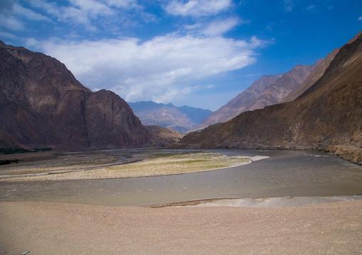 Mountains at the border with tajikistan, Badakhshan province, Darmadar, Afghanistan