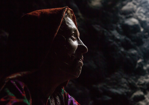 Wakhi nomad woman in the mountains, Big pamir, Wakhan, Afghanistan