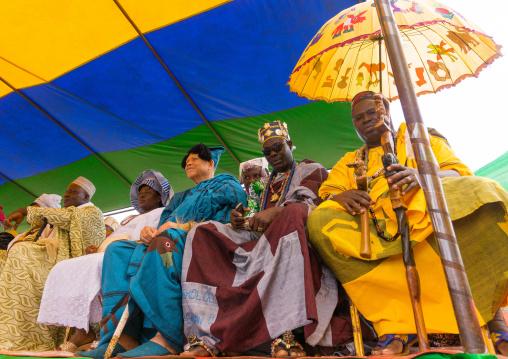 Benin, West Africa, Porto-Novo, traditional kings meeting