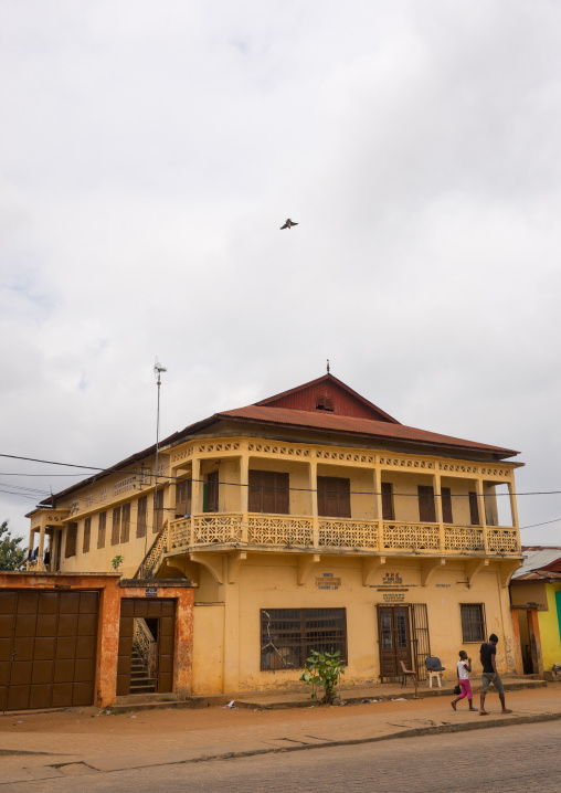 Benin, West Africa, Porto-Novo, old french colonial building