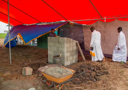 Benin, West Africa, Ganvié, celestial church of christ ceremony