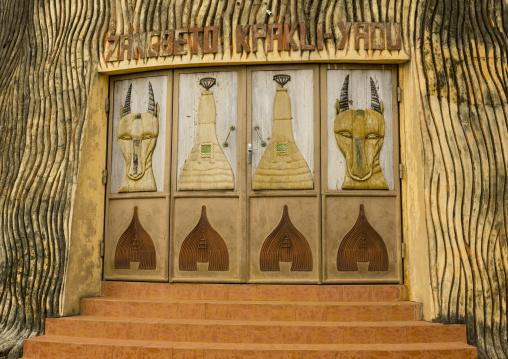Benin, West Africa, Porto-Novo, zangbeto temple door