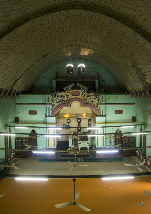 Benin, West Africa, Porto-Novo, praying room inside the great mosque