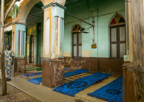 Benin, West Africa, Porto-Novo, praying room outside the great mosque