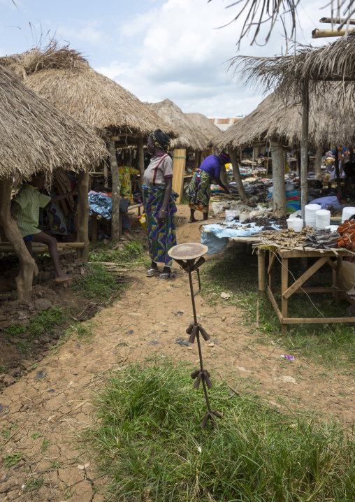Benin, West Africa, Onigbolo Isaba, iron altar called an asen in a market