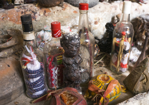 Benin, West Africa, Bonhicon, kagbanon bebe voodoo priest temple